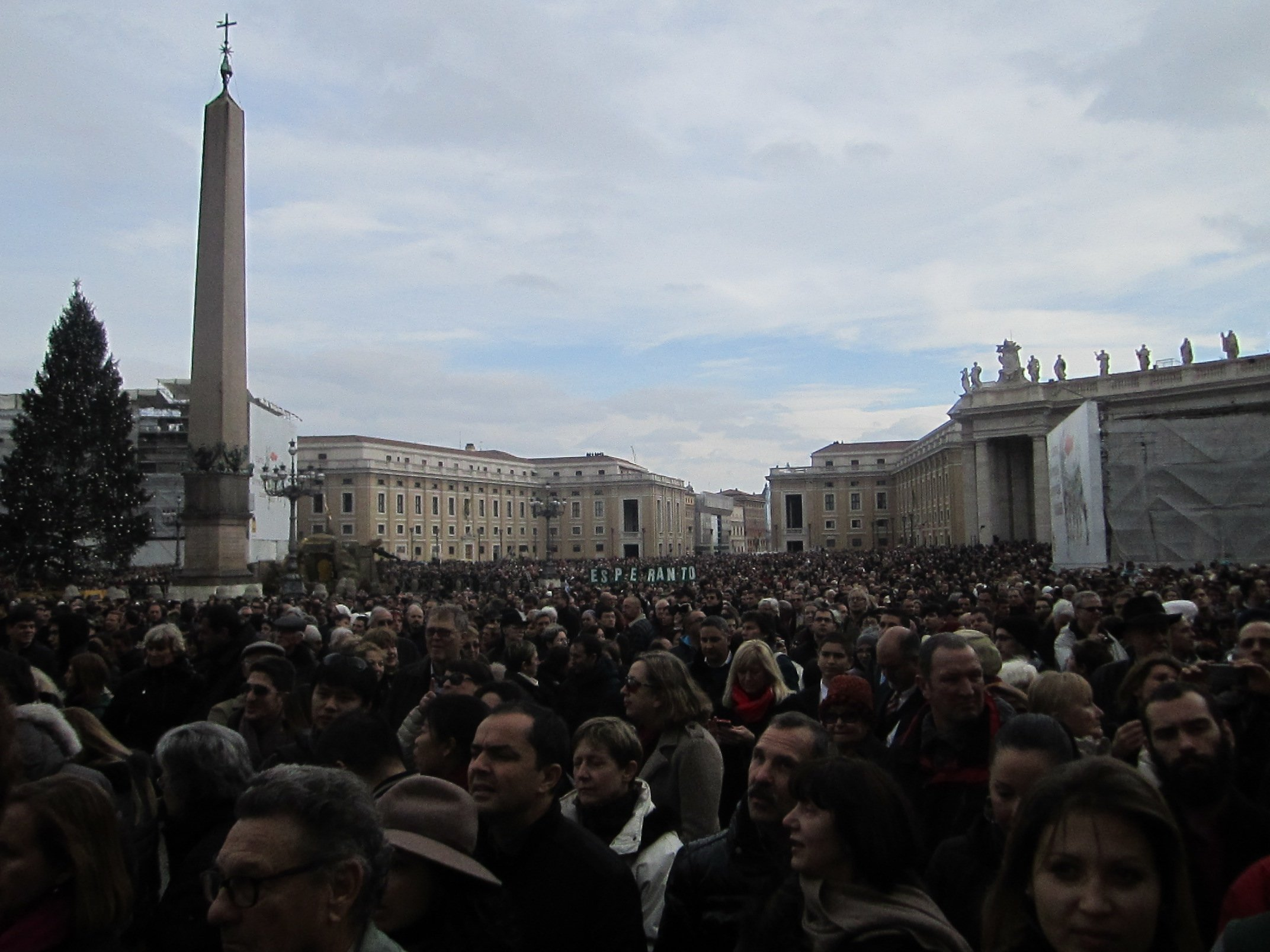 St. Peter's Square on Christmas Day