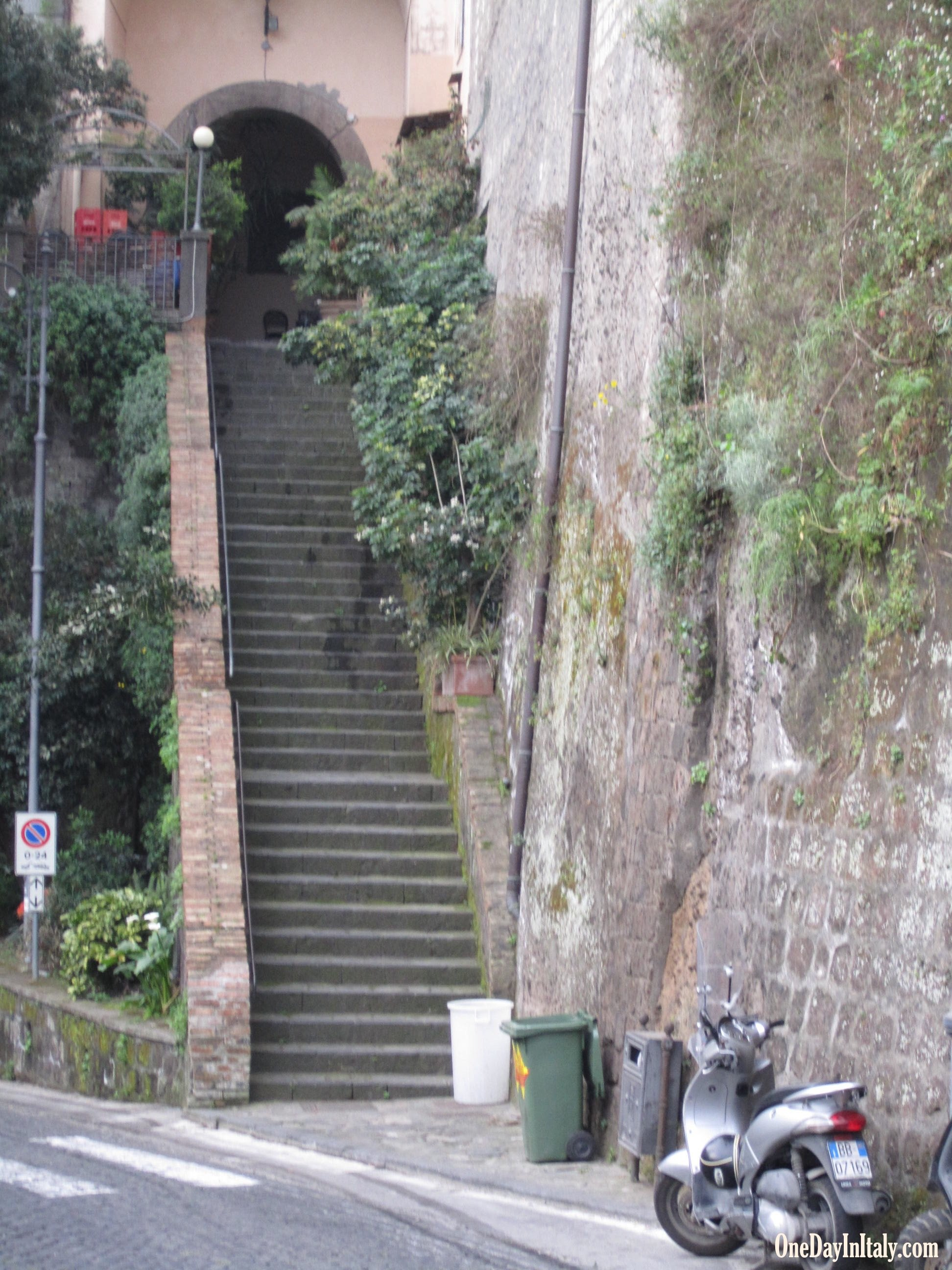 Stairs leading down to the port