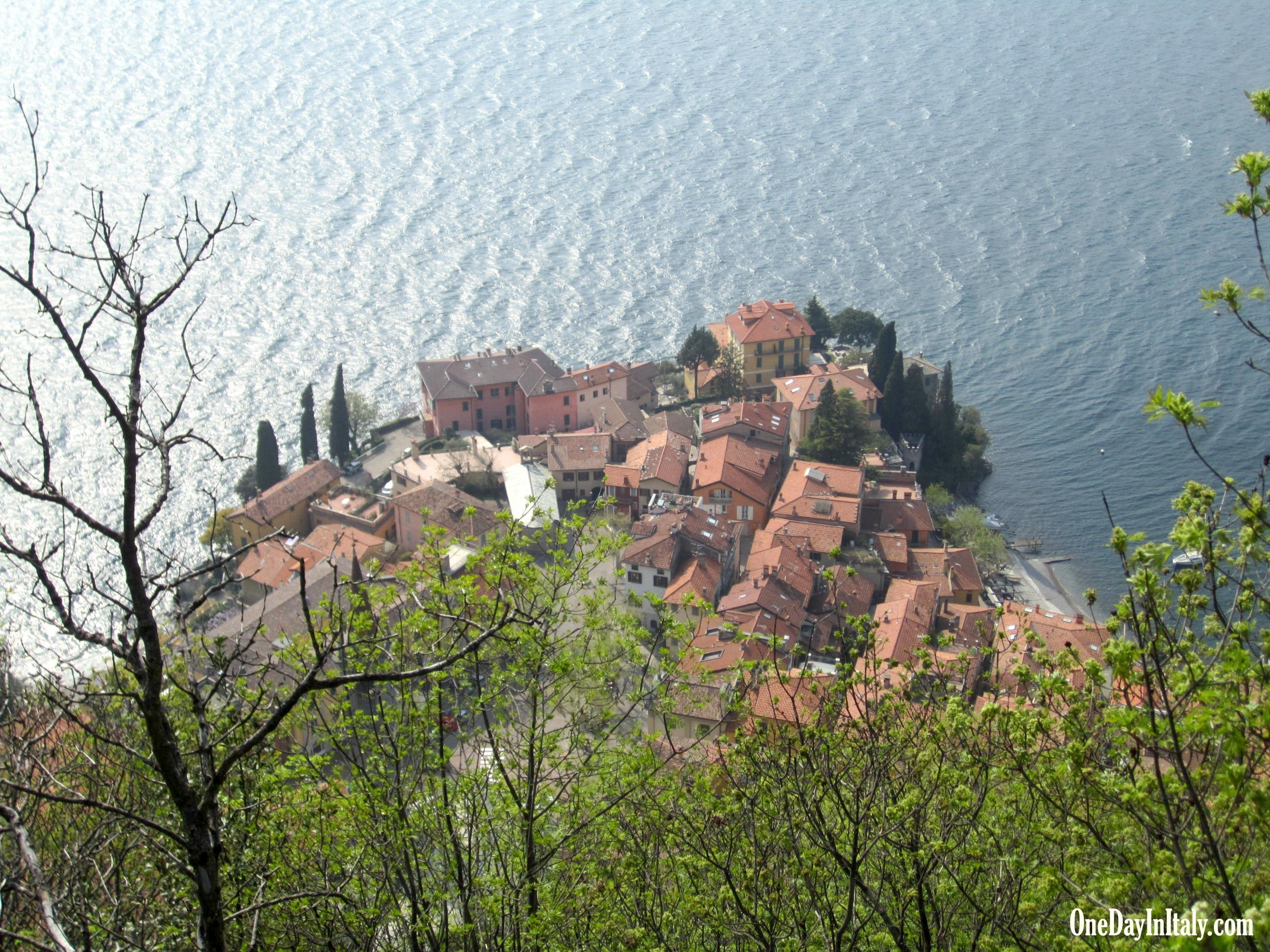 Varenna from above