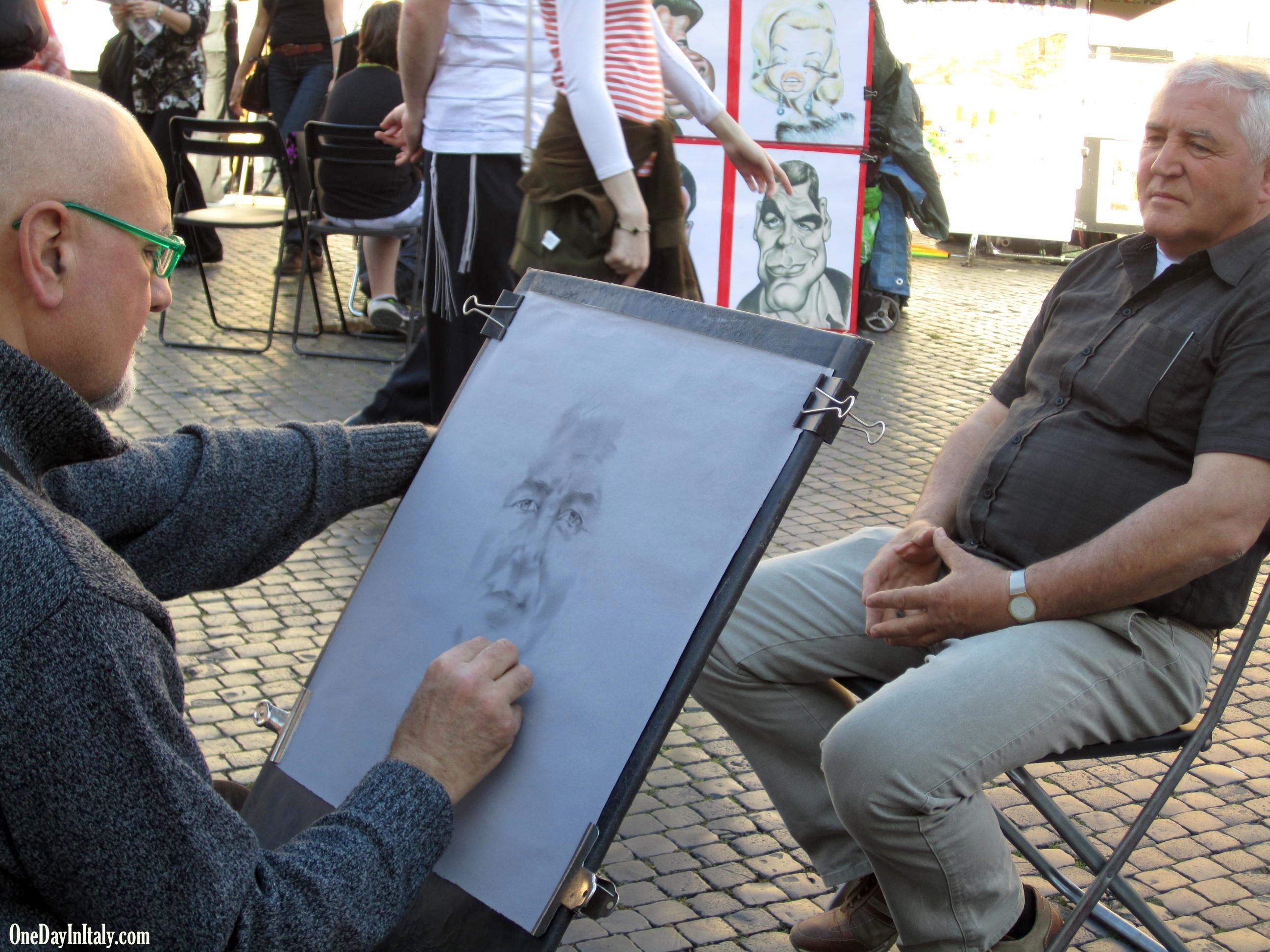 Portrait in Piazza Navona