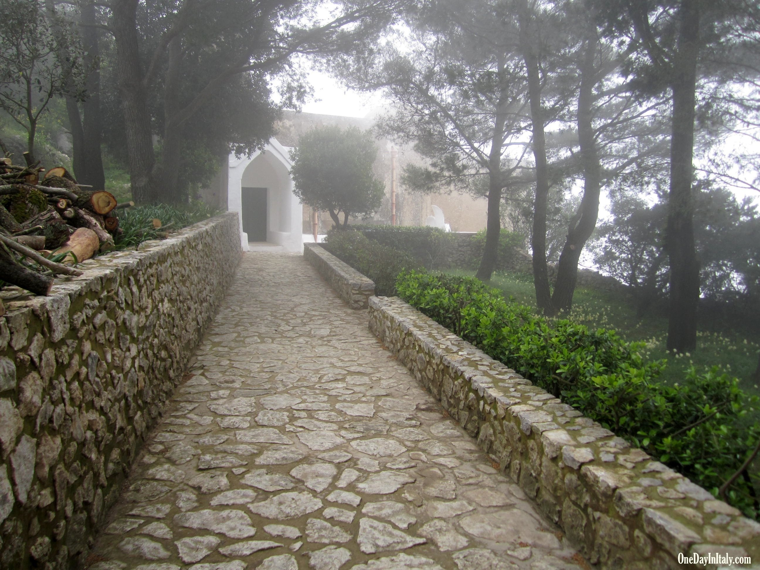 Monastery on the side of Mt. Solaro, Isle of Capri