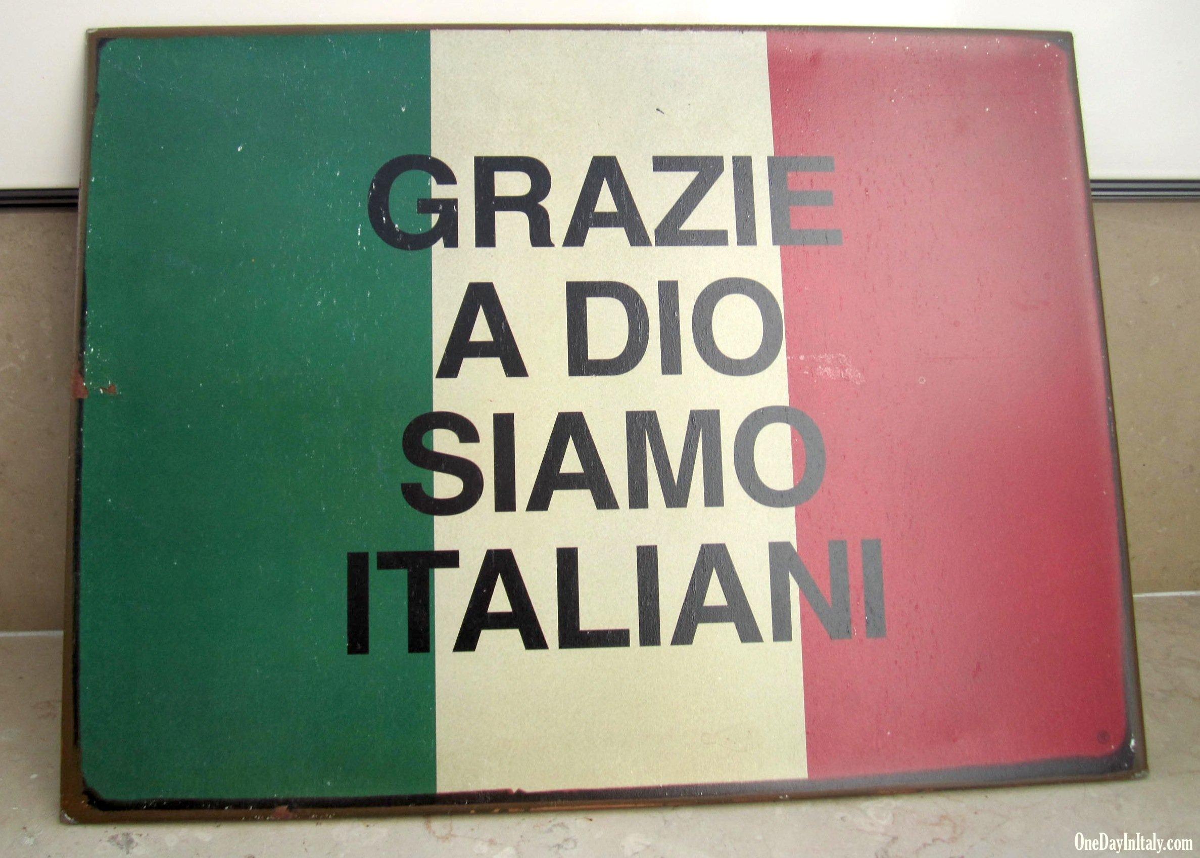 Grazie a Dio, Siamo Italiani