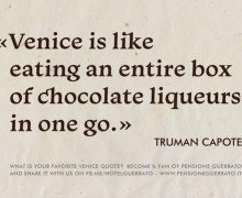 «Venice is like eating an entire box>> cover